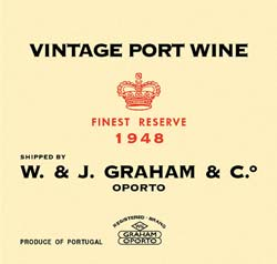 Graham's 1948 label